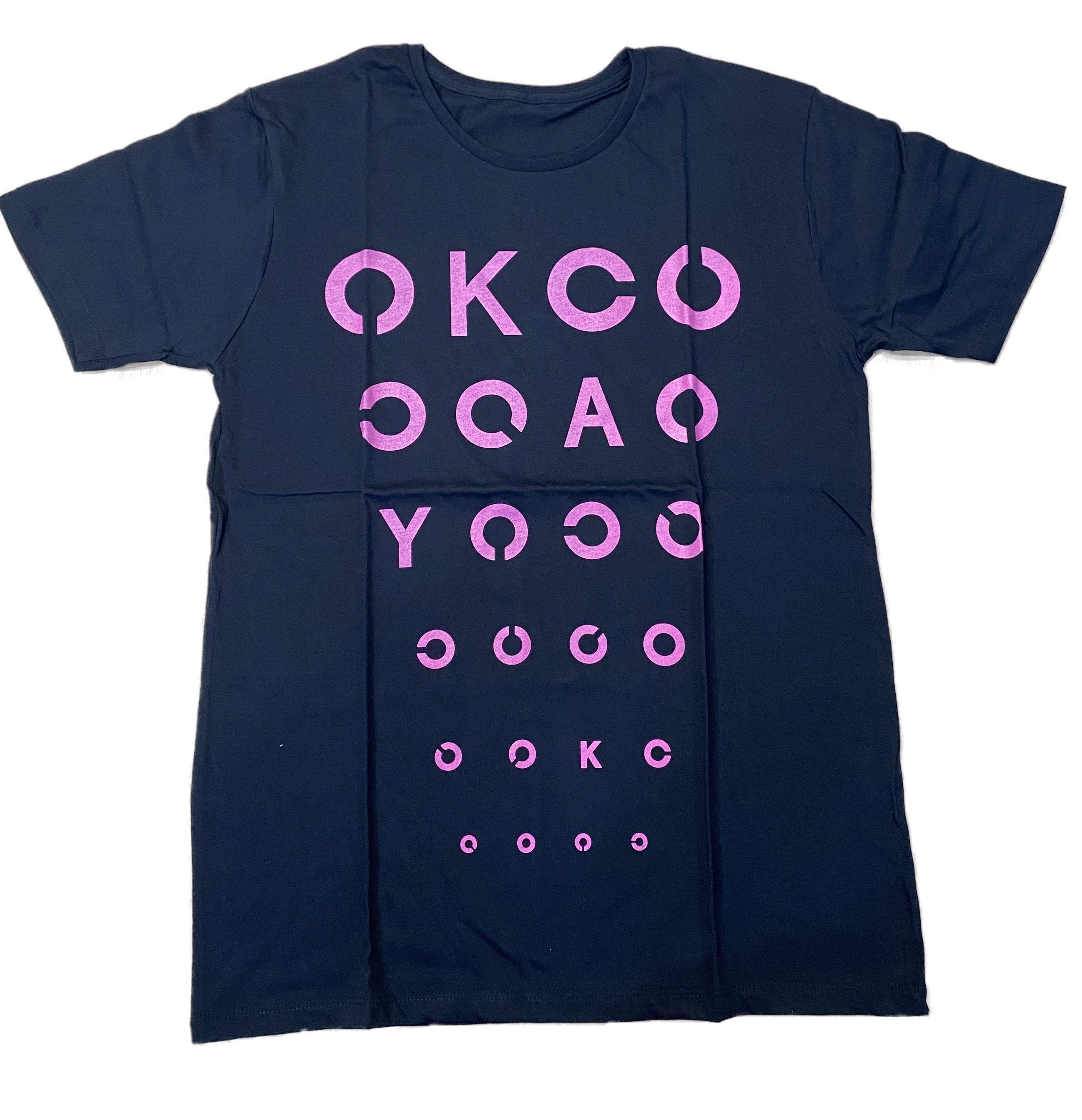 《50%OFF》視力検査 T-Shirts(ブラックピンク)