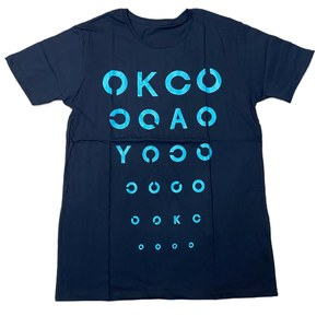 《50%OFF》視力検査 T-Shirts(ブラックグリーン)
